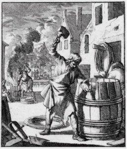 """De Kuiper, Jan Luyken, """"Het menselyk bedryf"""", 1694, Collectie Amsterdams Historisch Museum"""