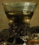 1642_PieterClaesz_StillLifeWithSilverBrandyBowlWineGlassHerringBread_1642_MuseumFineArtsBoston