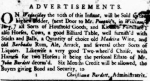 Virginia Gazette, Publisher Parks, September 04,1746, Page 3, Image from The Colonial Williamsburg Foundation