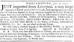 Virginia Gazette, Publisher Purdie & Dixon, June 03, 1771, Page 3, Image from The Colonial Williamsburg Foundation