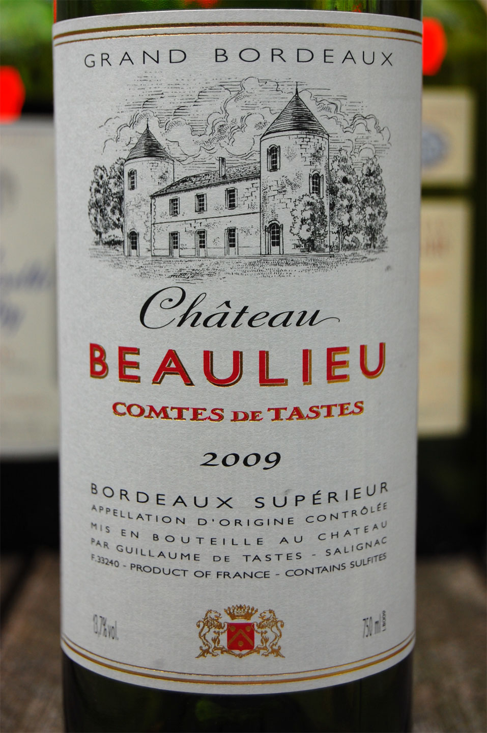 Chateau Beaulieu Comtes de Tastes 2009 Bordeaux Red Blends Wine Red Blends Wine