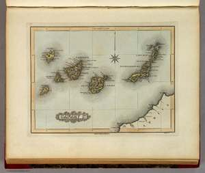 CanaryIslands, BT Welch and Co, FLucas Jr, Baltimore, 1823, Image from David Rumsey Map Collection