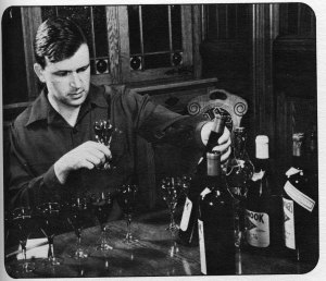 John Daniel Jr in 1945, Image from The 11th Heublein Premiere National Auction of Rare Wines, 1979.