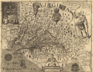 Virginia, Captain John Smith, 1606, Image from Wikipedia.