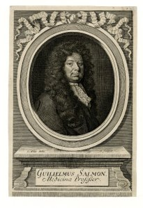 William Salmon engraved by Robert White, 1700.
