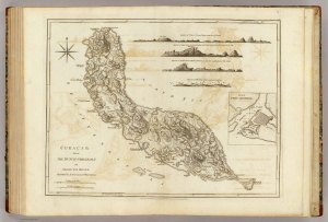 Curacao, Thomas Jefferys, 1775.  Image from David Rumsey Map Collection.