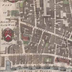 "From ""Tower Street Ward"" Benjamin Cole, The History and Survey of London from its Foundation to the Present Time, 1754."
