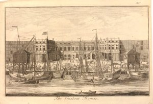 """The Custom House"" Anonymous, 1750-1800. #1880,0911.730. The British Museum"