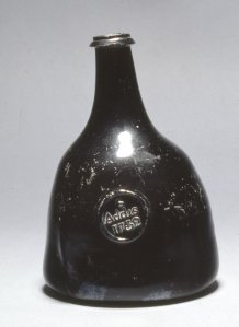 Wine Bottle, 1732 (circa). #1961,1102.13. The British Museum.