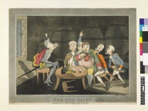 One Too Many. By John Hassell. Published by William Holland. 1794. #2001,0520.17. The British Museum.