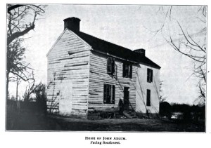 Home of John Adlum, Facing Southwest. Saul, John. Records of Columbia Historical Society, Vol 10. Google.