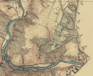 Crop from District of Columbia. Evans & Bartle, 1892. Digital ID g3850m gct00007. Library of Congress Geography and Map Division.