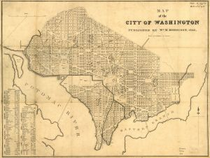 Map of the city of Washington. De Krafft, F. C. 1846. No. G3850 1846 .D4. Library of Congress Geography and Map Division.