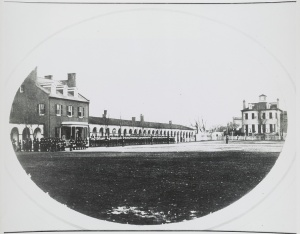 Commandant's house at the U.S. Marine Corps Barracks, Washington, D.C. 1859-1864. NO. U.S. GEOG FILE - Washington, D.C.--United States Government Buildings--Marine Barracks.  Library of Congress Prints and Photographs Division.