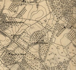 Second Crop from Topographical map of the District of Columbia. McClelland, Blanchard & Mohun, 1861. No. G3850 1861 .B6.  Library of Congress Geography and Map Division.