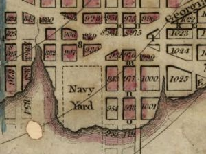 Crop from Plant of the city of Washington. Elliot, William. 1829. No. G3850 1829 .E4. Library of Congress Geography and Map Division.