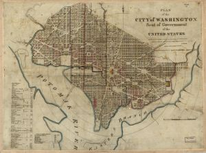 Plan of the city of Washington. William Elliot. 1829. No. 88694087. Library of Congress Geography and Map Division.