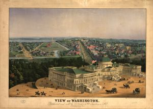 View of Washington. E. Sachse & Co. 1852. No. 98515951. Library of Congress Prints and Photographs Division.