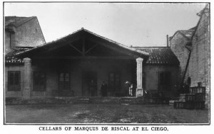 Cellars of Marquis de Riscal at El Ciego. Journal of Agriculture, December 10, 1908.