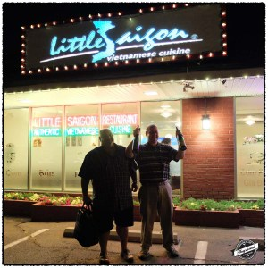 David and Phil outside Little Saigon.