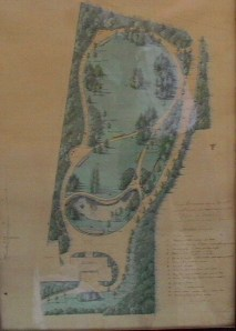Original Plan of the Park.  Image from Ch. Juvenal.