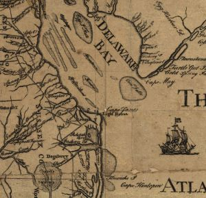 Crop from This Map of the  Peninsula between Delaware & Chesopeak Bays. Churchman, John. 778? #G3792.D45 1778 .C5.  Library of Congress Geography and Map Division.