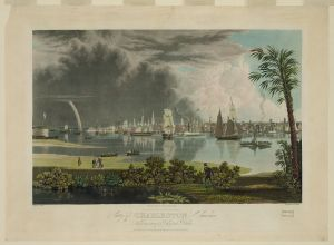City of Charleston, South Carolina, looking across Cooper's River. Painted by G. Cooke ; engraved by W.J. Bennett. c 1838. Library of Congress Prints and Photographs Division.