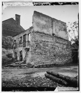 Savannah, Georgia. Ruins of houses.  Cooley, Sam A. 1865. LC-B811- 3552.  Image from Library of Congress Prints and Photographs Division.