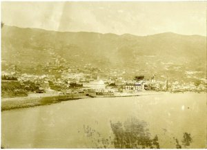 Madeira Islands, view of Funchal from sea.  1905?. Af,A64.3.  Image from British Museum.