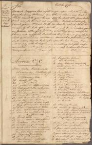 Extract from Charles Carroll's Letter Book dated October 8, 1771.  Image from NYPL Digital Collections.