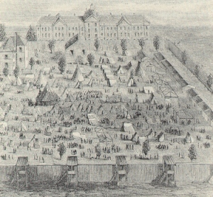 Drawing of Camp Asylum.  Image from South Carolina Department of Mental Health.