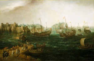 Ships Trading in the East. Vroom, Hendrick Cornelisz. 1614. Object ID BHC0727.  National Maritime Museum, Greenwich, London, Palmer Collection.