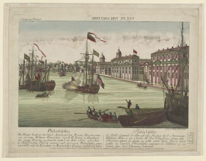 Vuë de Philadelphie. Leizelt, Balthasar Friedrich. 1770s. Library of Congress Prints and Photographs Division.