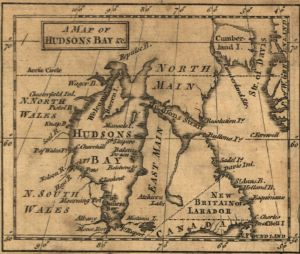 Detail from A new and accurate map of North America. Huske, John. 1755. Library of Congress Geography and Map Division.