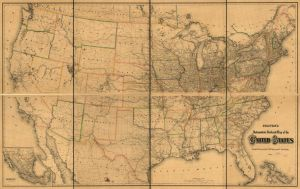 Colton's intermediate railroad map of the United States. 1882. Call Number G3701.P3 1882 .G15.  Library of Congress Geography and Map Division.
