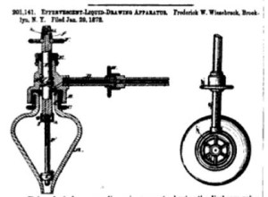 Effervescent-Liquid-Drawing Apparatus used as a champagne-dispensing apparatus. Official Gazette of the United States Patent Office. 1878. Google Books.