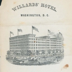 Willard's Hotel. Image from NYPL.