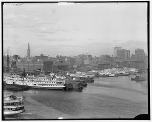 Baltimore, Maryland, skyline and waterfront. Detroit Publishing Co. 1910-1915. Image from Library of Congress Prints and Photographs Division.