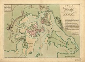 A plan of Boston, and its environs, shewing the true situation of His Majesty's army, and also those of the rebels. Andrew Dury. 1776. Call #G3764.B6S3 1776 .W5. Library of Congress Geography and Map Division
