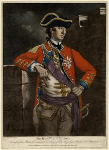The Honorable Sir William Howe.  John Morris. 1777.  Image from Wikipedia.