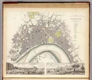 Bordeaux. Chapman and Hall, London. 1832. David Rumsey Map Collection.