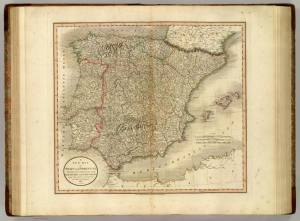 A New Map of Spain and Portugal. John Cary. 1801. David Rumsey Map Collection.