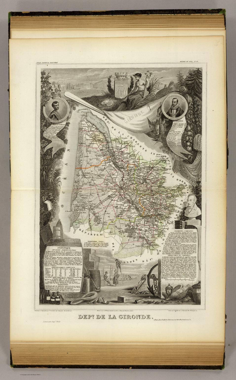 Dept De La Gironde Levasseur Victor 1856