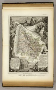 Dept. De La Gironde. Levasseur, Victor. 1856. David Rumsey Map Collection.