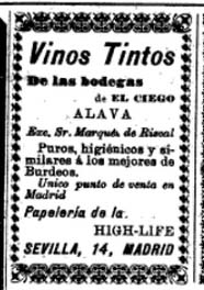 Advertisement from Nuevo Mundo, Volume 3, June 11, 1896. Google books.