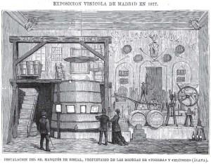 Exposition Vinicola de Madrid 1877. La Ilustración española y americana. 8-7-1877.