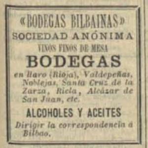 Advertisement from Anuario del comercio, de la industria, de la magistratura y de la administración. 1905, no. 2, page 1,461. Biblioteca Nacional de Espana.