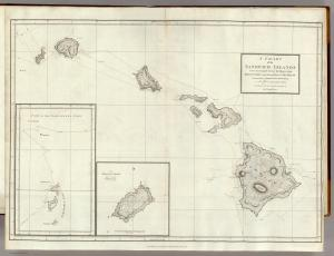 Chart of the Sandwich Islands. Vancouver, George. 1798. David Rumsey Map Collection.