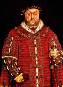 King Henry VIII in 1542. After Hans Holbein the Young. Image from Wikipedia.