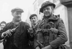 An 'alcoholic' welcome for the liberators of Avranches.  Image from http://www.normandiememoire.com/